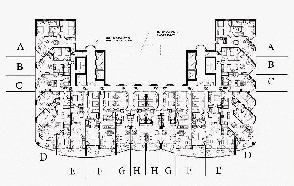 Anderson ocean club oceanfront guru for Oceanfront floor plan